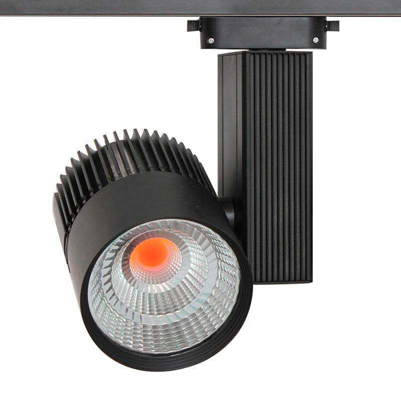 Foco carril CRONOLUX CREE led, negro 35W, PINK Carnes/Frutas, Rosa
